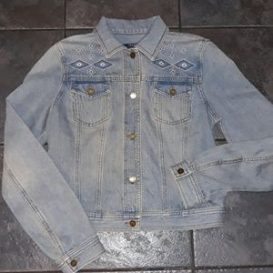 Chaps Denim Jacket Medium Woman's Light blue 4 6 8